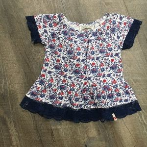LUCKY BRAND FLORAL 3-6 month baby top